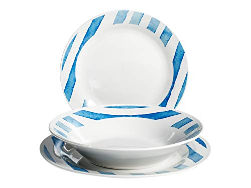 Royal Leerdam 734977 Royal Norfolk Itaca - Vajilla de porcelana (18 piezas)
