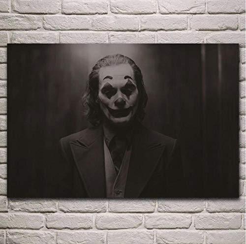 GHKNB Impresiones sobre Lienzo 1 Pieza Joaquin Phoenix Joker Película Fantasía Wall Art Print Poster Living Room Home Decor (50X75Cm) Sin Marco