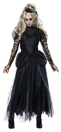California Costumes Women's Dark Princess Adult Woman Costume, black, Large