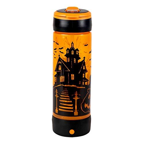 COOL GEAR POP Lights 24 Ounce Light Up Haunted House Halloween Water Bottle