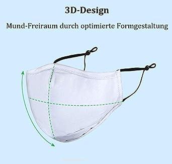 Frentree Premium Mund Nasenschutz aus Baumwolle mit Anker Motiv 3-lagig mit Nasenb/ügel verstellbare Ohrschlaufen waschbar Mundschutz Community Maske