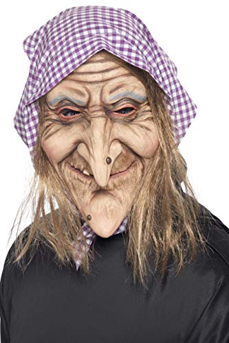 Halloween! Smiffys Maske Alte Hexe, Über Kopf, Latex