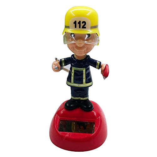 Kalaokei Liebes Solar Fireman Automatic Swing Head Car Dashboard Ornament Geschenk