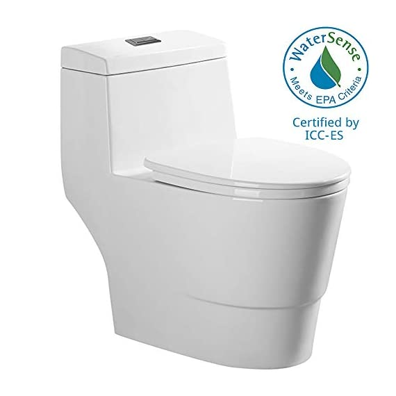 WOODBRIDGE T-0001, Dual Flush Elongated One Piece Toilet with Soft Closing Seat, Comfort Height, Water Sense, High-Efficiency, Rectangle Button B-0940 Pure White 14 <p>✅ : Ship from warehouse directly ; Fast shipment Thant regular order ✅ : Luxurious Modern Design one piece toilet , Clean, sleek look and compliment with different styles like modern , craftsman , traditional and etc. ✅: The skirted trap way creates a sleek look and makes cleaning easier. Compare to other toilets, it has no corners and grooves, very easy to reach for cleaning . ✅: Siphon Flushing one piece toilet, Fully glazed flush system , bringing a super quiet and powerful flushing - NO clogs, NO leaks, and NO problem ✅: Comfort Height Design, Chair-height seating that makes sitting down and standing up easier for most adults ✅ High end Soft Closing Toilet Seat with Stainless Steel Durable Seat Hinge, Easy to get the toilet seat off to tighten or clean after years of use. ✅ : Package Includes toilet, pre-installed soft closing toilet seat, pre-installed water fitting , high quality wax ring , floor bolts , and installation instruction, also Include special hand wrench tool to easily tighten the bolts in narrow spaces. ✅ : US & Canada UPC & CSA certified products. High-efficiency, Water Sense Certified toilet - meet or exceed ANSI Z124. 1 & ANSI A112-19. 7 ✅ : 5 year limited on porcelain parts against fading/staining of the glaze; 1 Year on flushing mechanism & soft closing toilet seat , Woodbridge US based product support team is happy to assist with any sales or product-oriented queries.</p>