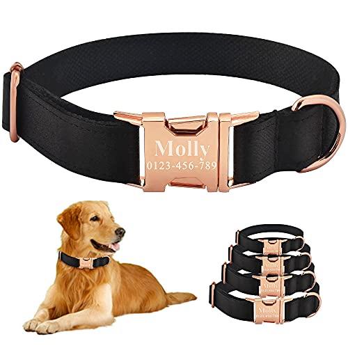 Collar para Perro Grabado Personalizado, Ajustable, Duradero, de Nailon, ID de Perros, Nombre XS-L-XS_22-31cm