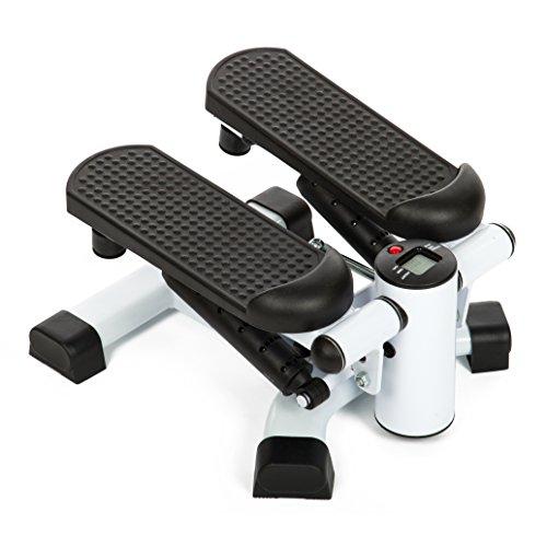 Sport-Thieme Mini-Stepper 2 in 1 | Fitness, Aerobic für Zuhause | Kleiner Stepper mit verstellbaren Trittflächen | Profigerät mit Displayanzeige für Trainingsfortschritt