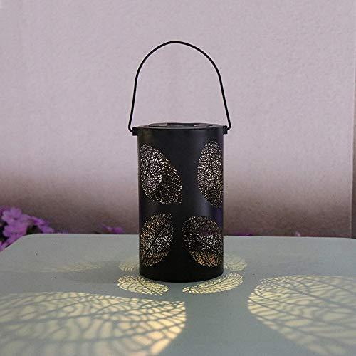 SUNSHIN Luz de Linterna Solar, lámpara de Metal para Luces de jardín Colgantes al Aire Libre, lámpara de jardín LED Impermeable, para Patio, Exterior o Mesa