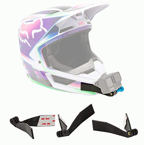 Motorcycle Helmet Chin Mount, Compatible with Fox V1 & V2 Helmets 2019-21, fits All Action Cameras, Compatible with GoPro Hero 9,8,7,6,5,4, DJI OSMO, Sony, Garmin | WannaBes Mount | Enduro, MX, ADV