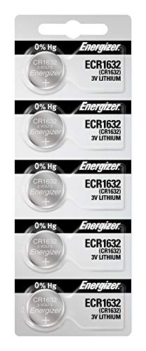 Energizer CR1632 3V Lithium Coin Battery (5 Count (Pack of 1))