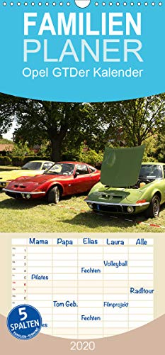 Opel GT Der Kalender - Familienplaner hoch (Wandkalender 2020, 21 cm x 45 cm, hoch)