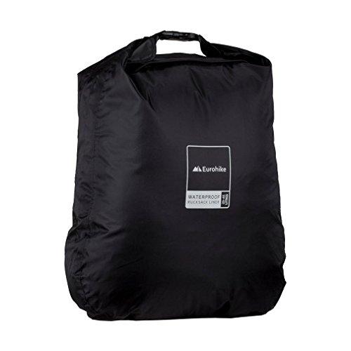 Eurohike Waterproof Rucksack Liner 25-45L, Black, One Size