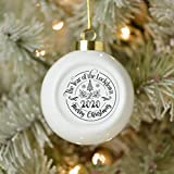 Dom576son Christmas Ball Ornaments, 2020 The Year of The Lockdown Ceramic Ball Christmas Ornament,...