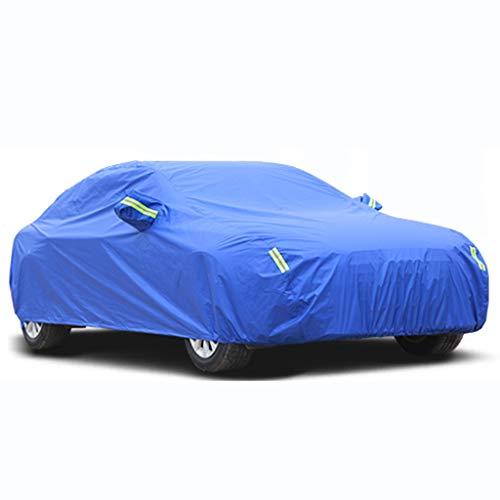 QYJchez-Car cover Kompatibel Mit Peugeot 107 Allwetter Auto Abdeckung Sonnenschutz Schneesicher Wasserdicht Auto Plane Tragbare Auto Zubehör (Size : Blue (Plus Velvet))
