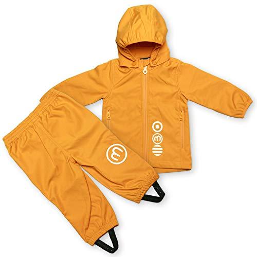 MINYMO Softshell Kombination, Jacke mit passender Hose (gelb, 128)