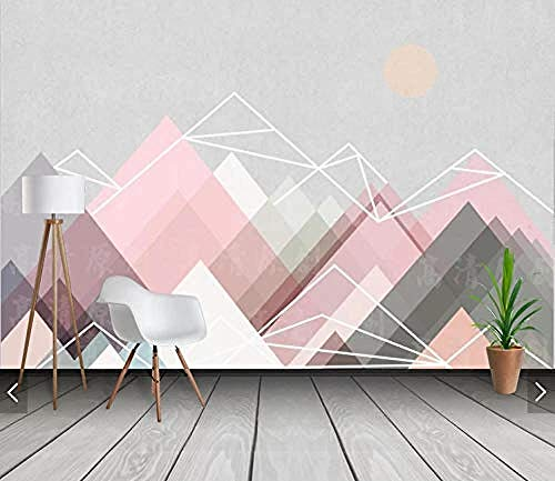 Seamless Mural Seamless Whole 3D Mural Nordic Minimalistic Geometric Triangle Abstract Wallpaper Gra Pared Pintado Papel tapiz 3D Decoración dormitorio Fotomural sala sofá pared mural-430cm×300cm