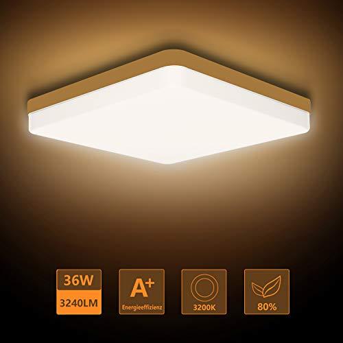 24W LED Kaltweiß Deckenlampe Silber Flurleuchte Schlafzimmer Küche Panel Lampe
