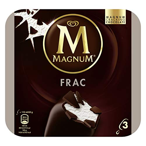 Magnum Frac Chocolate Negro sin Gluten, 3 x 110ml (Congelado)