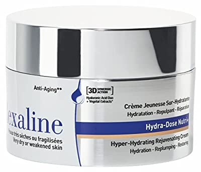 Rexaline - Hydra-Dose Nutri+ - Hyper-Hydrating Rejuvenating Cream - Anti wrinkle cream with Hyaluronic Acid - Anti aging care - Day and night face cream - Dry skin - Cruelty free - 50ml by Rexaline