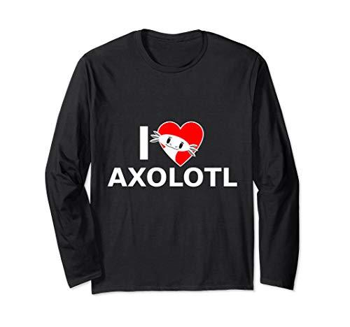 Lustige Axolotl Amphibien Lurch Aquarium Geschenke Langarmshirt