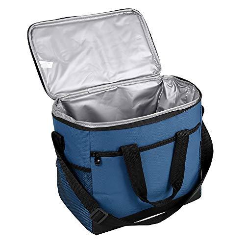 Dightyoho - Bolsa isotérmica Impermeable para Almuerzo, 10 L, para el Trabajo, Escuela, Picnic, Ciclismo, Compras, Viajes, Mujer, Hombre y niños, Azul