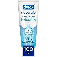 Durex Naturals Hidratante Lubricante, Ácido Hialurónico, 100% Natural sin Fragancia, Colorantes Ni Agentes Irritantes - 100ml