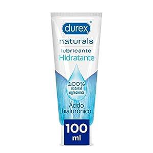 Durex Naturals Hidratante Lubricante Base Agua, Ácido Hialurónico, 100% Natural sin Fragancia, Colorantes Ni Agentes Irritantes - 100ml