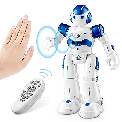 SUNACE RC Robot Toy for Kids, Smart Robot Toys Remote Control Intelligent Programmable Robot Gesture Sensing Robot Kit with Walking Dancing Singing Science Humanoid Robot for Children Boys Girl (Blue)