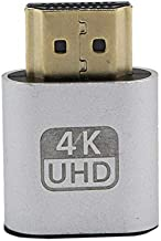 Emilyisky VGA HDMI Dummy Plug Adaptador de emulador de Pantalla Virtual DDC Edid Soporte 1920x1080P para Tarjeta de Video BTC Mining Miner Silver