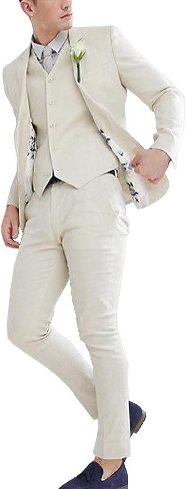 Men's Suit Modern Fit 3-Piece Suit Center Vent Blazer Jacket Tux Vest & Trousers