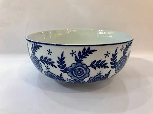 Gisela Graham Bol de service Motif floral Bleu et blanc