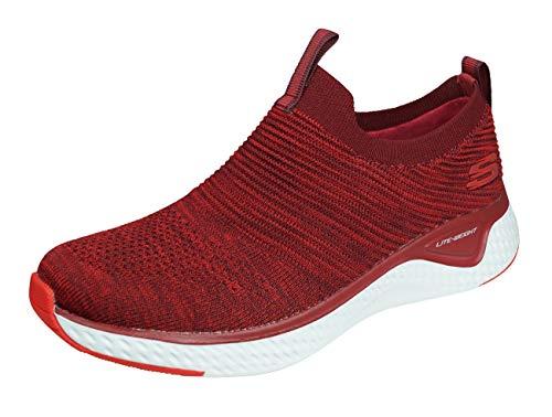 Skechers Solar Fuse Lite Joy Slip-On Zapatillas Caminar para Mujeres Zapatos Sin Cordones-Red-39