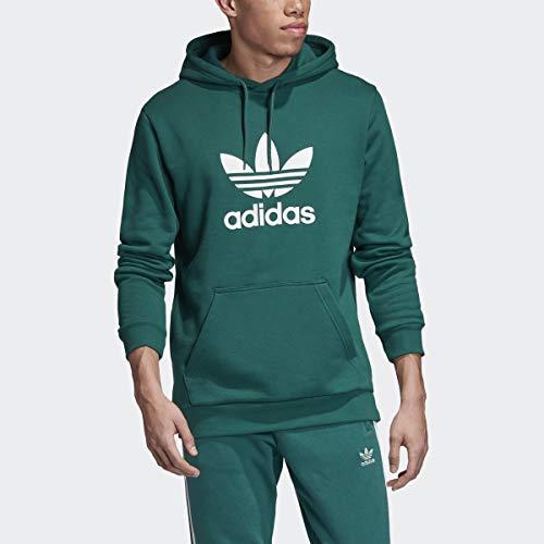 adidas Originals Herren Trefoil Hooded Sweatshirt Kapuzenpulli, edel grün/weiß, X-Large