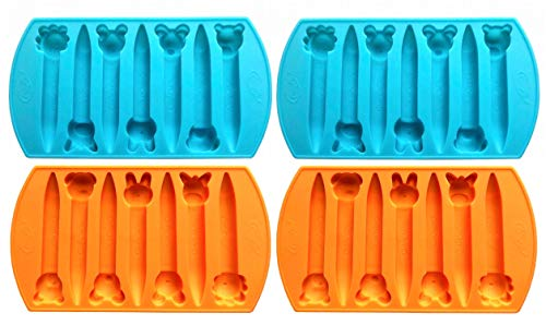 CraCycle Animal Silicone Molds, Recycle Broken Crayons, Durable Oven Safe (4 Pack)