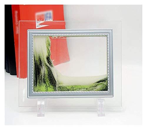 Jszzz 5-Zoll-3D-Vision-dynamisches Verschieben von Flowing Sand-Malerei mit Glas Photo Frame 2 aus...