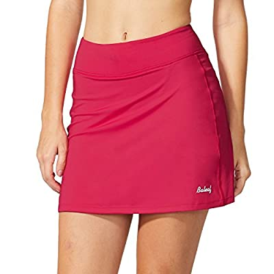 BALEAF Women's Athletic Skorts Lightweight Active Skirts with Shorts Pockets Running Tennis Golf Workout Sports Deep Pink Size L