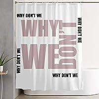 Why We Don't 浴室の窓の装飾のための生地のホックが付いているポリエステル防水シャワー・カーテン60X72in