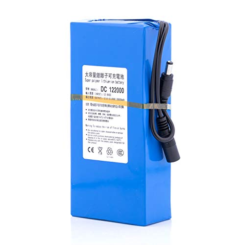 ABENIC DC12V Super Polymer Rechargeable 20000mAh Lithium ion Battery Pack 2A (24W),for Aviation Models Portable DVDs, MP3 Players and More,Power Bank with Charger(Blue)