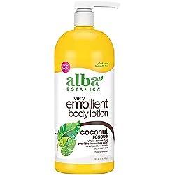 Alba Botanica Very Emollient Body Lotion, Coconut Rescue, 32 Oz