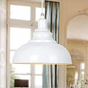 WINSOON 1PC Modern Style Metal Ceiling Lamp Wall Vintage Loft Pendant Light Retro Industrial (White)