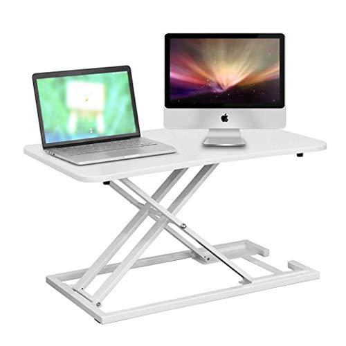 HEWEI Computer werkstations computer bureau staande bureau zittende-sta-hoogte in hoogte verstelbare bureau opklapbare tafel studie bureau scherm hoogte verhoging kan dragen 15 kg (kleur: wit grootte: