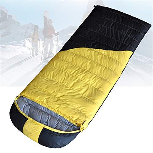 KP&CC Camping Schlafsack Superleichter Daunenschlafsack Hautfreundlich Und Komfortabel Geeignet Für Frühling Sommer Herbst,Yellowblack