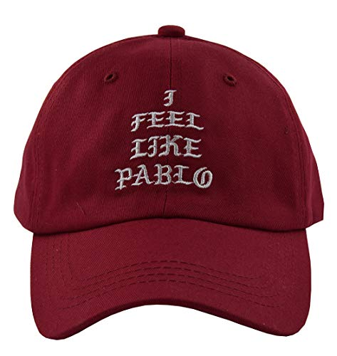 Dad Hats I Feel Like Pablo Hat Cap in Baseball Caps The Life of Pablo -  Rot -  Einheitsgröße