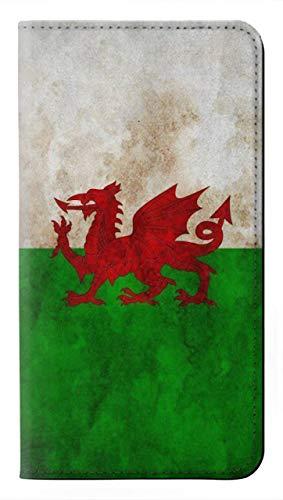 Innovedesire Wales Football Soccer Red Dragon Flag Flip Hülle Tasche Klappetui für Sony Xperia 10 II