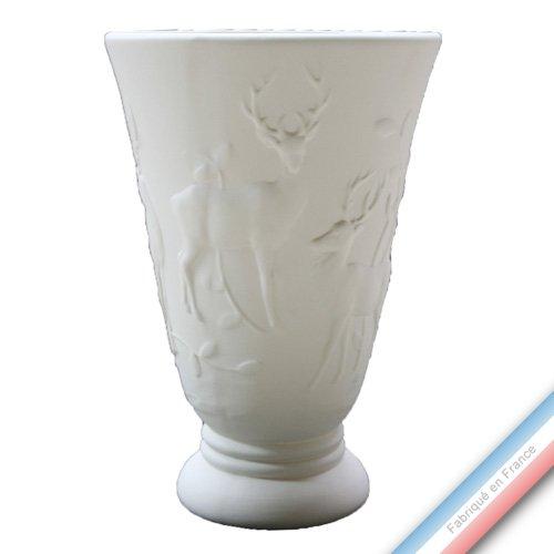 Lunéville 1730 Collection CHAMBORD - Vase cerf - H 36 x D 24 cm - Lot de 1