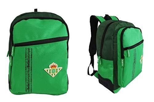 Real Betis 143503 Mochila Escolar, Multibolsillos, Grande, Verde, 31x43x12cm