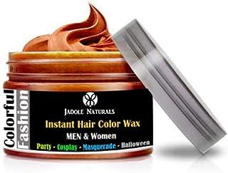 Jadole Naturals Chocolate Brown Hair Wax Temporary - Hair Wax, Natural Matte Hairstyle Hair Dye Wax For Party 4 oz