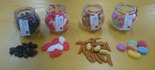 和み キャンドル「柿ピー・コーヒー豆・めで鯛・ドロップ」4種類セット