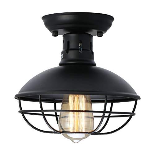 GPZ-iluminación de techo Lámpara de techo de succión, American Retro Iron Industry Metal E26 / E27 Lámpara de techo de succión con bulbo, Adecuado for el corredor Cocina Tocador Lámpara de arte Lámpar