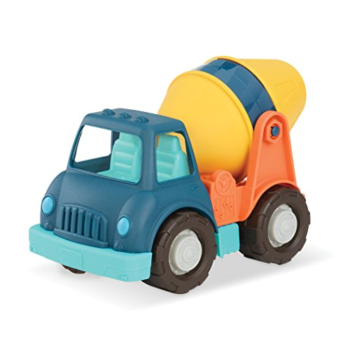 Wonder Wheels by Battat – Cement Truck – Truck with Concrete Mixer – Moveable Parts – Sturdy Construction Toy for Toddlers – Recyclable – 1 Year Old +