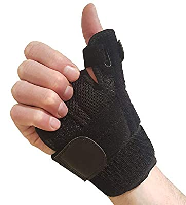 Thumb Brace with Wrist Support – Thumb Splint for Carpal Tunnel, Arthritis or Tendonitis Pain Relief. Thumb Stabilizer Fits Left or Right Hand. Thumb Spica Splint Immobilizer for Men or Womens Hands